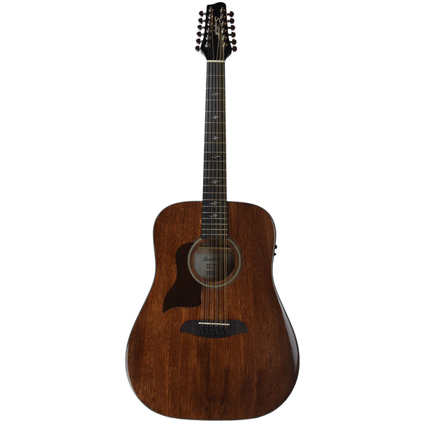 Sawtooth Mahogany Series Left-Handed 12-String Solid Mahogany Top Acoustic-Electric Dreadnought Guitar