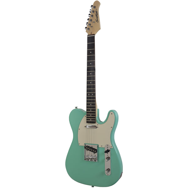 Sawtooth Classic ET 60 Ash Body Electric Guitar, Surf Green