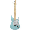Sawtooth ES Series ST Style Electric Guitar Beginner's Pack, Daphne Blue with Pearloid White Pickguard