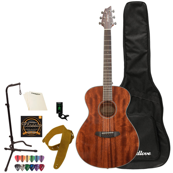 Breedlove Discovery Concert Mahogany-Mahogany Acoustic Guitar with ChromaCast Accessories
