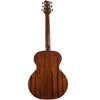 Sawtooth Mahogany Series Left-Handed Solid Mahogany Top Acoustic-Electric Mini Jumbo Guitar with Hard Case and Pick Sampler