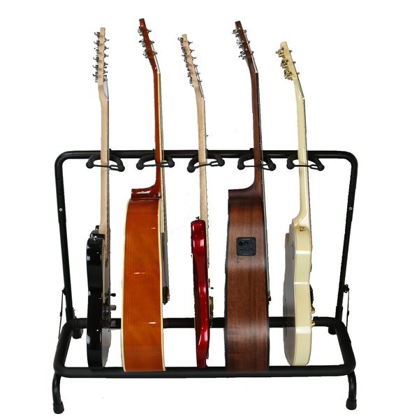 ChromaCast Guitar Stand, Holds 5 Guitars