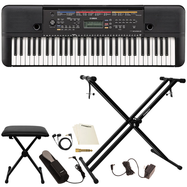 Yamaha PSRE263 61-Key Portable Keyboard with Accessories