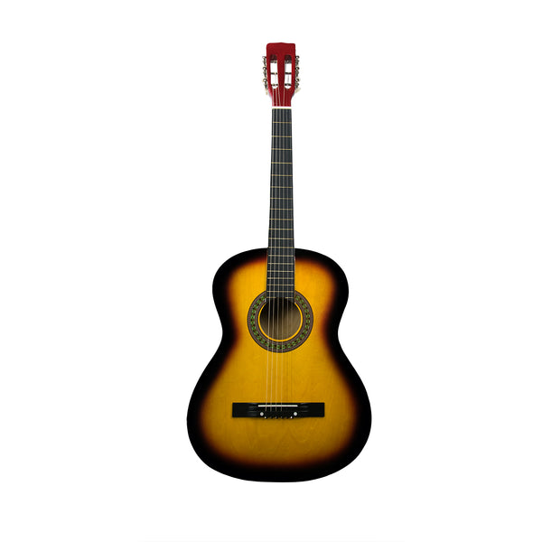 Rise by Sawtooth Petite Size Steel String Beginner's Acoustic Guitar, Sunburst