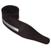 ChromaCast Leather Racing Stripe Guitar Strap with Suede Back, Black w/ Silver