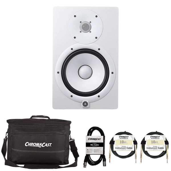 Yamaha HS8 Powered Studio Monitor with Accessories, White