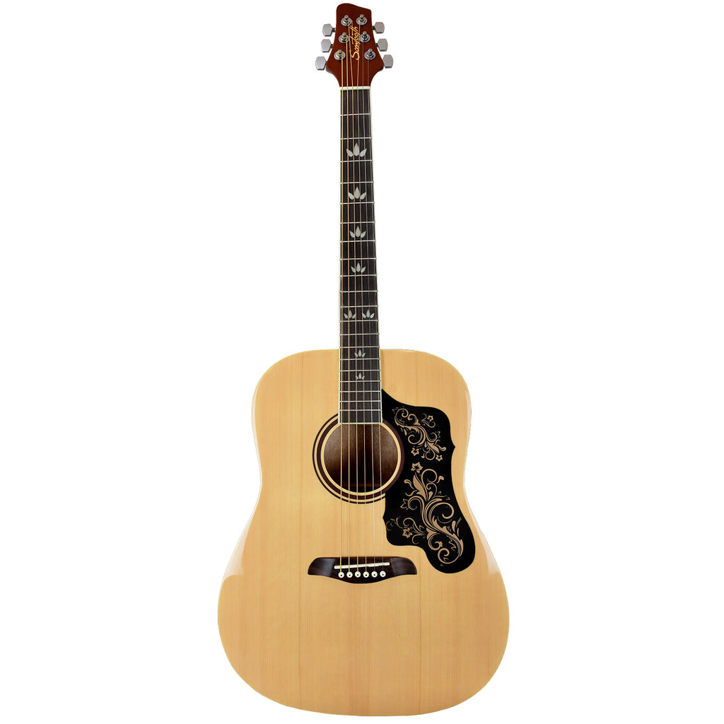 Sawtooth Acoustic Dreadnought Guitar with Black Pickguard & Custom Graphic