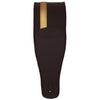 ChromaCast Leather Racing Stripe Guitar Strap with Suede Back, Black w/ Gold