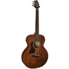 Sawtooth Mahogany Series Left-Handed Solid Mahogany Top Acoustic-Electric Mini Jumbo Guitar with Hard Case and Accessories