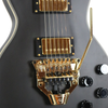 Sawtooth Americana VuDu, Satin Black with Floyd Rose FRX Tremolo System & ChromaCast Pro Series Hard Case