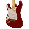 Sawtooth ES Series Beginner's Left-Handed Electric Guitar with Guitar Bag, Amp, and Accessories, Candy Apple Red with Pearloid White Pickguard