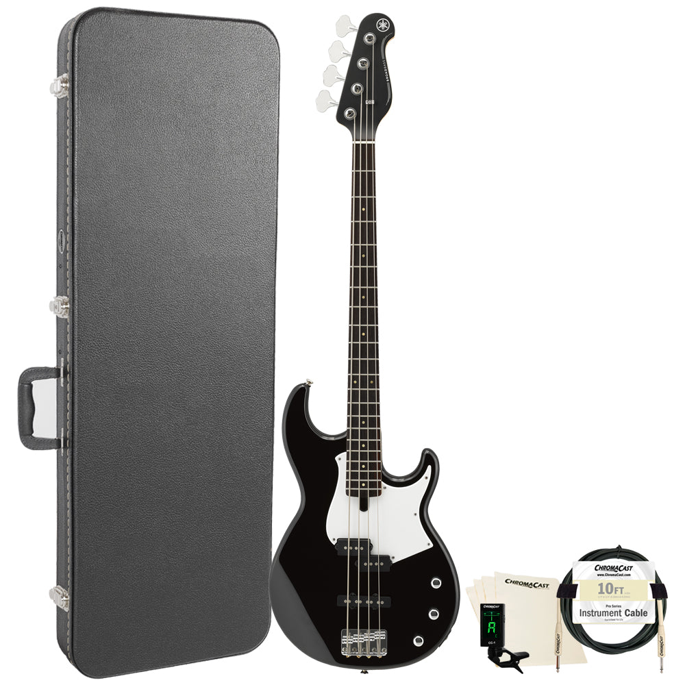 Yamaha BB234 BB-Series 4-String Bass Guitar with Hard Case & Accessories, Black