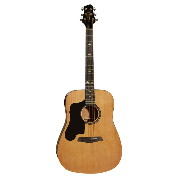 Sawtooth Left-Handed Acoustic Dreadnought Guitar with Black Pickguard