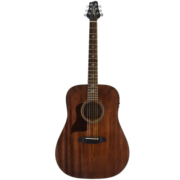 Sawtooth Mahogany Series Left-Handed Solid Mahogany Top Acoustic-Electric Dreadnought Guitar