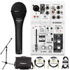 Yamaha AG03 3-Channel Mixer/Interface with Microphone & Accessories