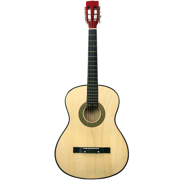 Rise by Sawtooth Full Size Steel String Beginner's Acoustic Guitar, Natural