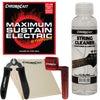 ChromaCast Electric Guitar String Care Maintenance Bundle. Includes Strings, Winder, Cutter, Cleaner & Microfiber Cloth
