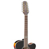Takamine GJ72CE-12BSB Jumbo Cutaway 12-String Acoustic-Electric Guitar, with Acoustic Jumbo Padded Gig Bag & Accessories