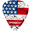 ChromaCast USA Flag Guitar Picks, Heavy Gauge(.96mm), 10-pack