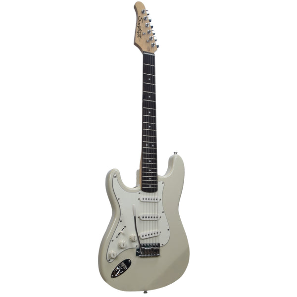 Sawtooth Classic ES 60 Alder Body Left-Handed Electric Guitar, Ash White