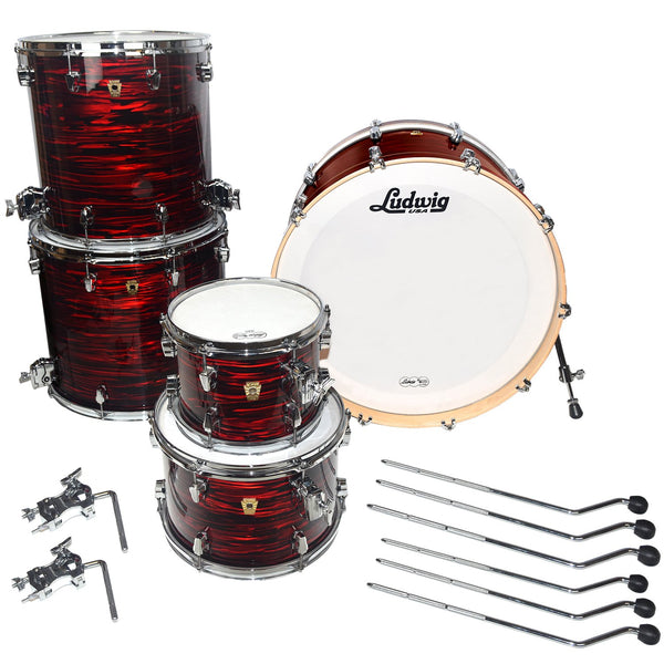 Ludwig USA Keystone 5-Piece Drum Shell Pack, Red Oyster