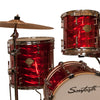 "Sawtooth Command Series 4-Piece Drum Shell Pack with 16"" Bass Drum, Red Mirror Metallic"
