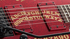 ESP Kirk Hammett Limited Edition Ouija Red Sparkle Electric Guitar with Hard Case & Signed COA