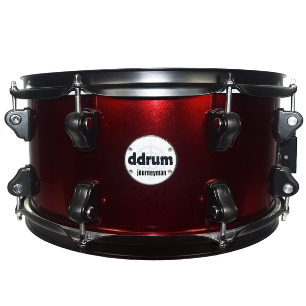 "ddrum Journeyman 13""x7"" 8-Ply Snare Drum, Wine Red"