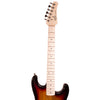 Rise by Sawtooth Right Handed 3/4 Size Beginner Electric Guitar with Accessories, Sunburst