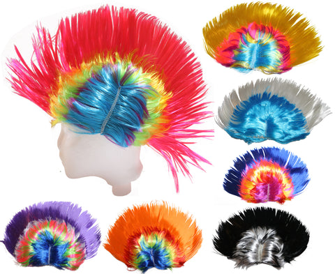Mohawk Wig - Blue Green Yellow Purple White Black Pink Red