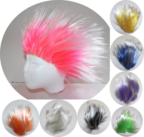 Spikey Wig - Blue Green Yellow Purple White Black Pink Orange