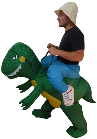 Inflatable Man Riding Dinosaur Costume