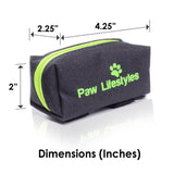 Dog Poop Bag Dispenser Leash Attachment, Includes Roll Of Doggy Waste Bags