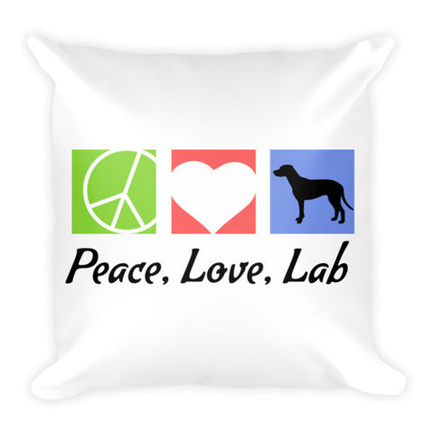 Peace, Love, Lab - Pillow -