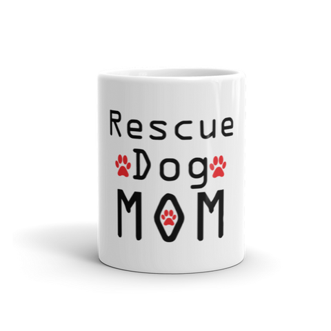 Rescue Dog Mom Coffee Mug -  - 1