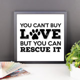 Rescue Dog Love - Framed Poster -  - 9