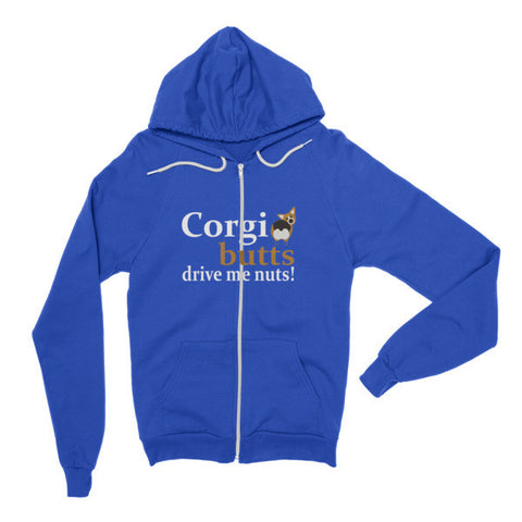 Corgi Butts Drive Me Nuts! - Hoodie Zipper Sweater -  - 1