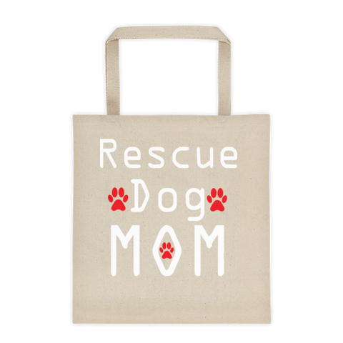 Tote Bag - Rescue Dog Mom Stylish Tote Bag -