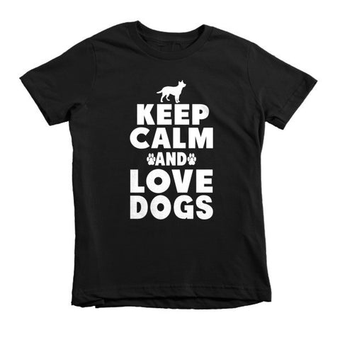 Keep Calm And Love Dogs - Short Sleeve Kids T-Shirt -  - 3