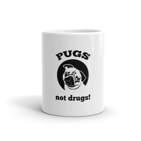 Pugs Not Drugs! - Mug -  - 1