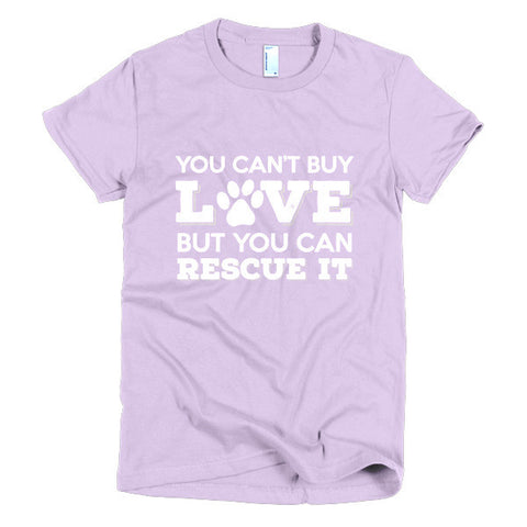 Rescue Dog Love - Short Sleeve Women's T-Shirt -  - 1