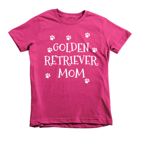 Golden Retriever Mom - Short Sleeve Kids T-Shirt - Paw Lifestyles Brand - Dog and Pet Products  - 1