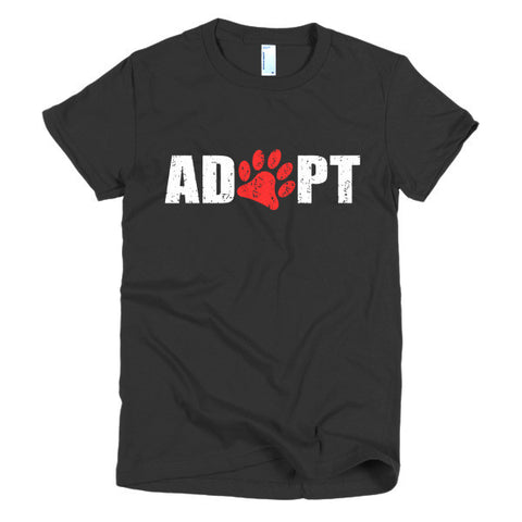 Adopt - Short Sleeve Women's T-Shirt -  - 2