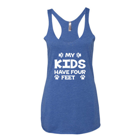 My Kids Have 4 Feet - Women's Tank Top - Paw Lifestyles Brand - Dog and Pet Products  - 1