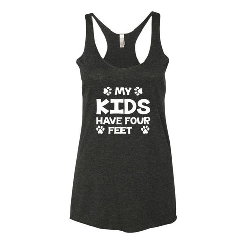 My Kids Have 4 Feet - Women's Tank Top - Paw Lifestyles Brand - Dog and Pet Products  - 2
