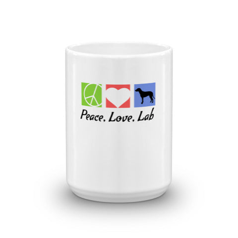 Peace, Love, Lab - Mug -  - 1