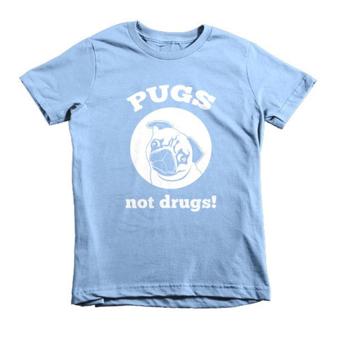 Pugs Not Drugs! - Short Sleeve Kids T-Shirt -  - 1