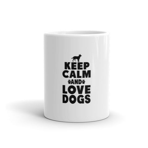 Keep Calm And Love Dogs - Mug -  - 1