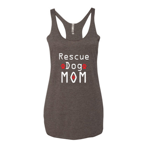 Rescue Dog Mom - Women's Tank Top -  - 1