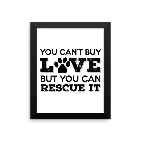 Rescue Dog Love - Framed Poster -  - 2